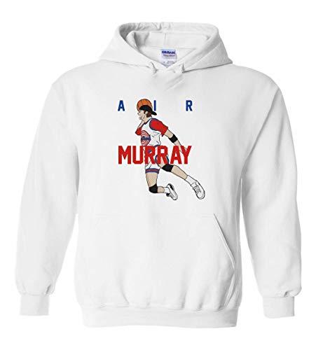 White Bill Murray Space Jam AIR Hooded Sweatshirt Adult ()