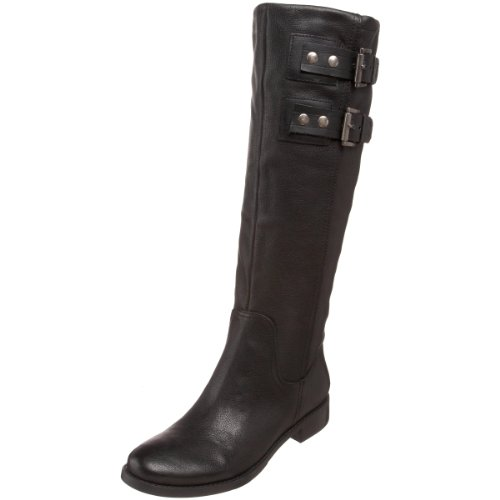 Nine West Women's Tumble Boot Black/Black Leather 3Stbwv9hH