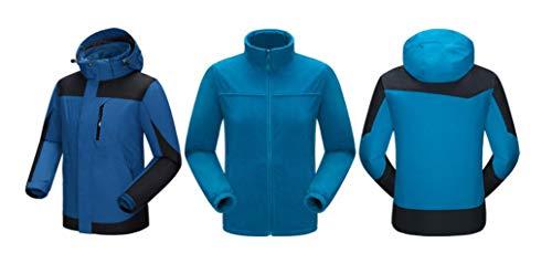 Sci 1 Corsa in Cappotto Esterno 3 Blu Rivestimento Di Alpinismo Impermeabile Antivento ZxwqHqa8X