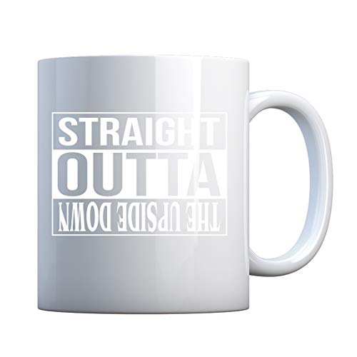 Mug Straight Outta the Upside Down 11oz Pearl White Gift Mug ()