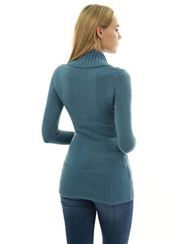 Grisatre Lacer Chandail Turquoise col chale Faux PattyBoutik Femmes Enveloppement 4H8X8w