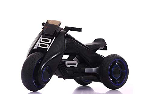 AB VOLTS Kids Electric Tricycle - 3 Wheel Battery Powered Trike for Children with Built in MP3 Player, Sound & Lights - Ride On Toy Motorcycle for Boys & Girls - 2 to 8 Year Old - Black