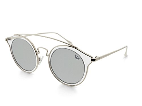 espejo de SILVER Polarized BIG GLAM NEGRA mujer sol modelo Gafas MOSCA zfdqzP