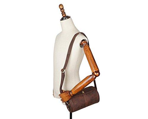 Sacs Horseskin Bandoulière color Mode Crazy De Godwin Messenger Homme Brown Rétro Jeffrey À Pour Brown S Vachette Sac Cuir En Size F0I5qx