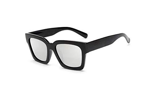 Big Gafas Sol Sol Super Polarizadas Gafas Retro Moda liwenjun Reflective Mercury Piece De Conducción De De Frame Frame Black Retro Espejo Sombrillas XnOfExZ