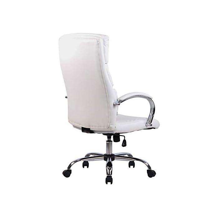 31 ZMjeF3kL MATERIALES: La silla ejecutiva cuenta con un agradable acolchado y un tapizado disponible en tela (100% poliéster) o en cuero sintético (100% poliuretano) según su elección. La base está disponible en metal cromado, reistente y fácil de limpiar. CARACTERÍSTICAS: La silla de oficina ofrece una postura ergonómica gracias a su forma y cualidades de asiento, la libertad de movimientos viene dada gracias a su respaldo con mecanismo de balanceo, su asiento giratorio y regulable en altura. La silla de oficina es cómoda y ofrece gran libertad de movimientos. DIMENSIONES: La silla de escritorio cuenta con las siguienes medidas aproximadas: Altura: 112 - 122 cm I Ancho: 64 cm I Profundidad: 70 cm I Altura del asiento: 44 - 54 cm I Superficie del asiento (AxP): 54 x 52 cm I Altura del respaldo: 72 cm I Altura de los reposabrazos: 67 - 77 cm I Capacidad máx. de carga: 136 kg I Peso: 16 kg.
