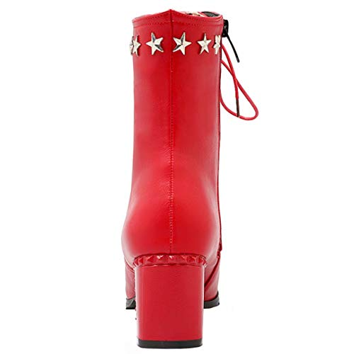 AIYOUMEI Classic Boot Red AIYOUMEI Red Women's Boot AIYOUMEI Women's Classic Women's Classic xqwE7ZRZ1t