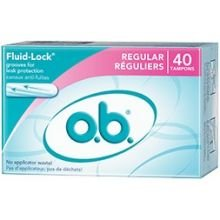 Ob Original Regular Tampon - 40 per pack -- 12 packs per case.
