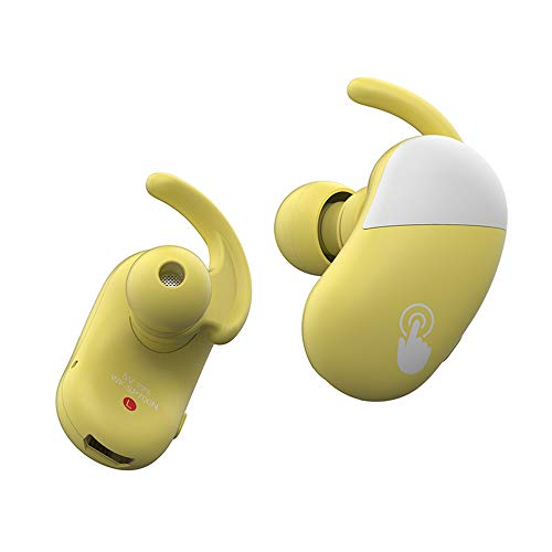 Widerlife Wireless Earbuds Bluetooth 5.0, Sport Touch Control Ear Buds TWS Stereo Headphones in-Ear Built-in Mic Headset Premium Sound with Deep Bass for Sport Gym Running Total 12-16H (Yellow) (Premium With Sound Bass)