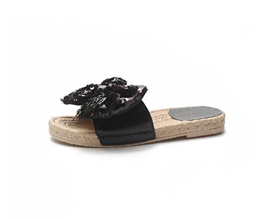 Signore Farfalla Paillettes Cool delle A Spiaggia Estate weiwei della Pantofole Piatto Pistoni Fondo Nodo gfRwx