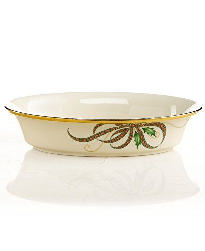 Lenox Holiday Nouveau Ribbon Collection Open Vegetable - Bowl Holiday Vegetable