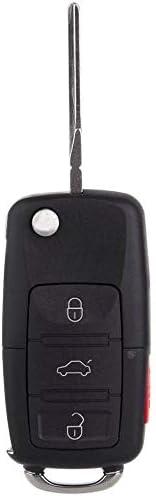 Passat HLO1J0959753AM,HLO1J0959753DC Golf Keyless Entry Remote Flip Car Key Fob fits 2002 2003 2004 2005 VW Jetta