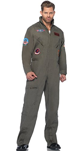 Leg Avenue Men's Top Gun Flight Suit Costume -