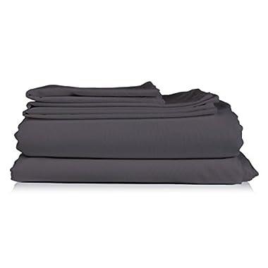 Thread Spread Hotel Collection 600 Thread Spread Egyptian Cotton Sateen King 4 Piece Sheet Set Grey
