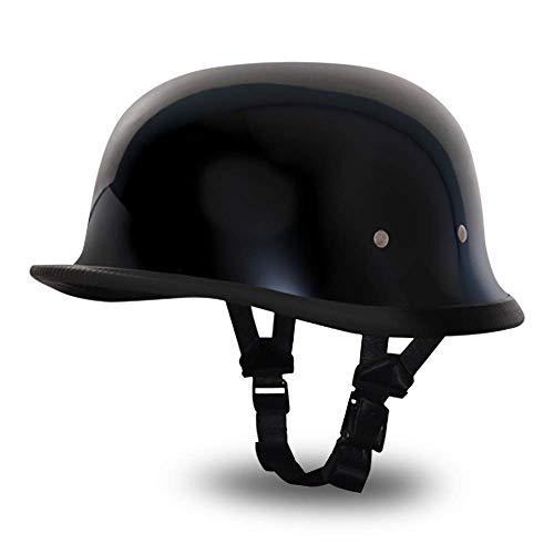 "Daytona Helmets ""Leading The Way In Quality Headgear"" German- Hi-Gloss Black"