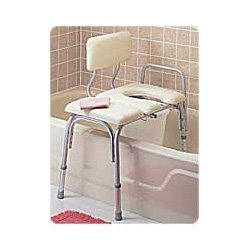 Bathtub Transfer - Carex Vinyl Padded Bathtub Transfer Bench with Cut Out, Pail (RMB15211) Category: Whirlpool and Bathroom Safety Aids by Carex Health Brands