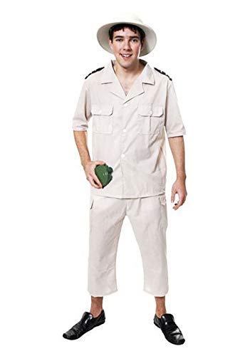 Adults Safari Jungle Explorer Hunter Costume Mens Theme