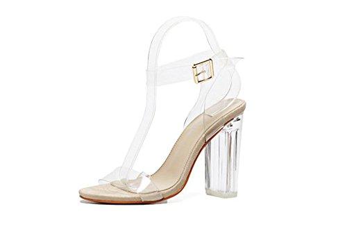 Queena Wheeler Women Shoe Ankle High Pump Heel Sandals Women Heel Pump Dress Sandals Beige