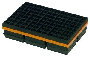 6''x6'' Base 1-1/4''Thk 1800Lb Cap Neoprene & Steel Vibration Isolation Pad