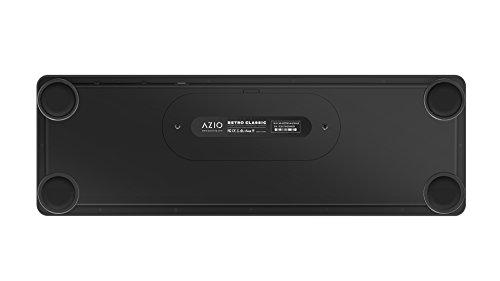 Azio Retro Classic Bluetooth Elwood - Luxury Vintage Backlit Mechanical Keyboard, Brown/Grey (MK-RETRO-W-BT-01-US) by Azio (Image #4)