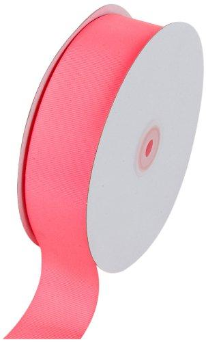 Creative Ideas Solid Grosgrain Ribbon, 1-1/2-Inch by 50-Yard, Neon -