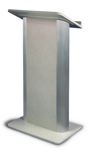 Pyrenees Marble Contemporary Lectern with Black Anodized - Lectern Aluminum Anodized