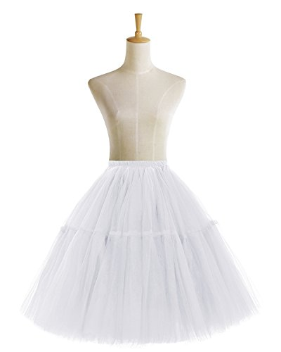 Bridesmay Faldas Cortas De Mujer Cancan Enagua Para Fietsa Boda White