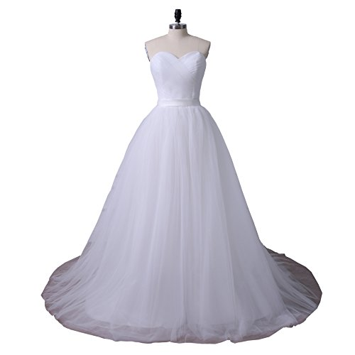Pleated Wedding Gown - 9