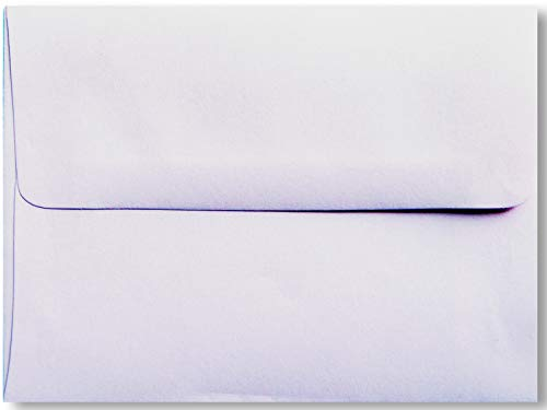 Light Orchid Purple Pastel 100 Boxed A2 (4-3/8 x 5-3/4) Envelopes for 4-1/8 X 5-1/2 Response Enclosure Showers from The Envelope Gallery Pastel