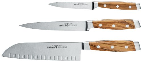 Solicut First Class Limited Knife Set, 3-Piece (Solicut Knife Kitchen)