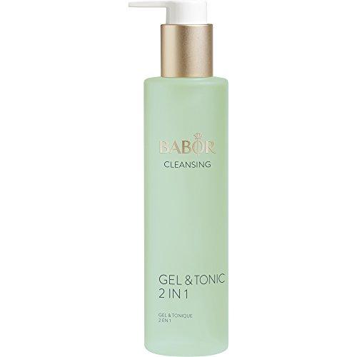 BABOR CLEANSING Gel & Tonic, 2 in 1, fettfreies Reinigungsgel und Gesichtswasser in einem, 1er Pack (1 x 200 ml)