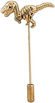Knighthood Gold Dinosaur Shirt Stud Brooch Golden Lapel Pin Badge Coat Suit Jacket Wedding Gift Party Shirt Co