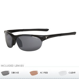 Tifosi Optics Wisp Interchangeable Lens Sunglasses - Matte Black 0040100101 by Tifosi Optics