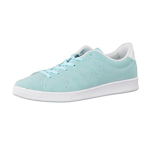 adidas Damen Advantage Clean QT W Sneaker Low Hals Blau (Agucla/Agucla/Ftwbla) 42 EU
