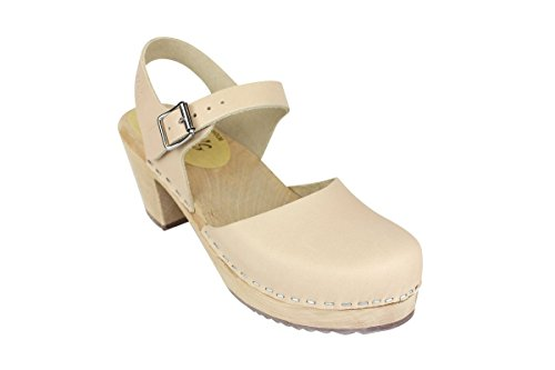 Lotta From Stockholm Highwood Clogs in Nude