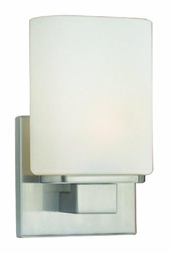Eurofase 19417-028 Marond 1-Light Wall Sconce, Satin Nickel/Opal White
