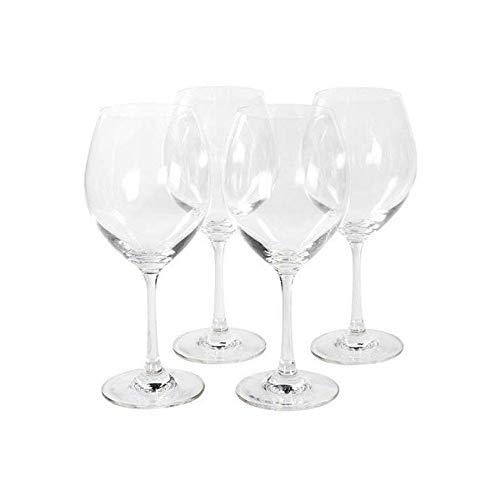 Jogo De 4 Tacas De Vinho/agua Em Vidro Luca 450 Ml
