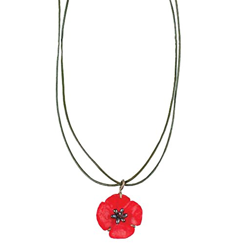 ''Red Poppy'' Necklace by Michael Michaud for Silver Seasons… by Michael Michaud