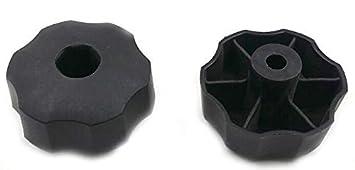 Tirador de repuesto Knob Locker para cortacésped genérico - Compatible con la mayoría de cortacésped -