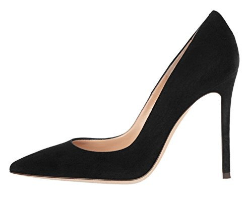 10cm da con alto scarpe sposa da da ufficio Scarpe donna tacco nere Edefs Sexy pvxwpF6q7