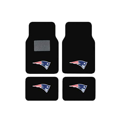 New England Patriots NFL Universal Floor Mats 4 Set Car Accessories - Floor England New Patriots Mat