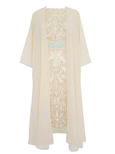 Dresses E110LF Gown Mother Chiffon Ivory Prom Women Short Bride TalinaDress Jacket 41qCS6q