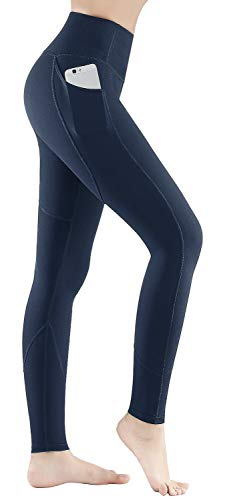 HOFI High Waist Yoga Pants with Side & Inner Pockets, Tummy Control, Women Leggings with Special Line Design