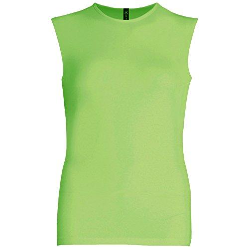 Esteez Womens Sleeveless Fitted Base Layering T-Shirt Greenery Medium