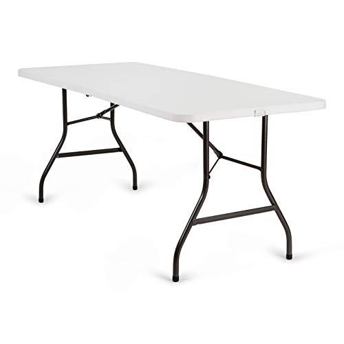 Newstorm Oskar – Table Pliable de 182,3 x 74,2 x 74,3 cm, Couleur Blanche