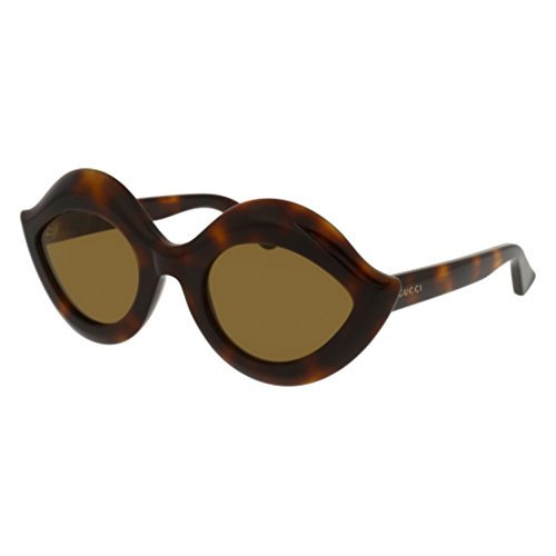 (Gucci GG0085S Sunglasses 003 Havana / Brown Lens 53 mm)