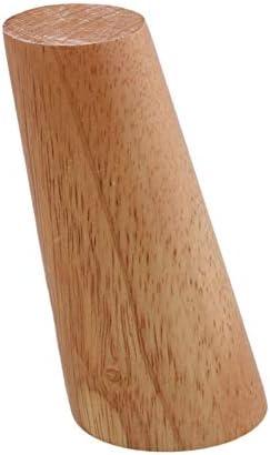 ラウンド木製交換ソファソファチェアオットマンラブシートコーヒーテーブルキャビネット家具木製脚、クリアコーティングオークテーパード木製,D,18cm/7.0in