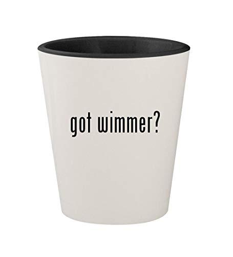 got wimmer? - Ceramic White Outer & Black Inner 1.5oz Shot Glass