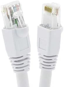 24AWG Network Cable with Gold Plated RJ45 Snagless//Molded//Booted Connector 550MHz 10 Gigabit//Sec High Speed LAN Internet//Patch Cable White 3-Pack - 4 Feet GOWOS Cat6a Ethernet Cable