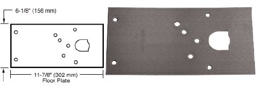 CRL Rixson Duranodic Bronze Finish Left Hand Center-Hung 28 Series Floor Mounted Door Closer Cover Plate